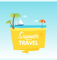 time to travel summer vacation flat background vector image