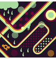 Abstract background retro vector image