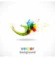 Color Ink Splash Grunge Background vector image