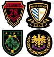 Emblem royal badge shield vector image