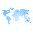 World Map techmology vector image vector image