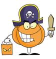 Halloween Pumkin Bag And Sword vector image