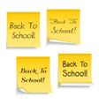 Back To School Sticky Notes vector image