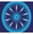 Circular Dotted blue Background vector image