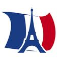 Eiffel Tower design vector image