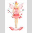 fairy tail person with wings vector image