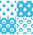Flame patterns set vector image