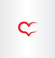 love icon symbol heart red sign element vector image
