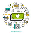 money control and budget planning vector image