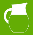 pitcher of milk icon green vector image