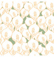 seamless pattern with spathiphyllum flowers vector image