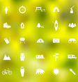 Set of camping icons vector image