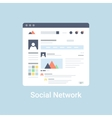 Social Network Wireframe vector image