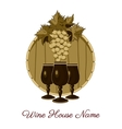 Wine house vector image