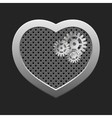 Concept heart with gears vector image