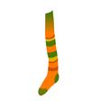 icon long sock vector image vector image