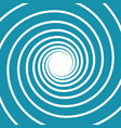 white on blue spiral swirl vector image