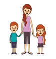 color image caricature full body mother taken hand vector image
