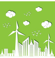 Eco city concept background vector image