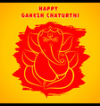 happy Ganesha chaturthi festival greeting vector image