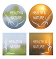 Health and Nature background Decorative Frame Set vector image