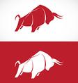 image of bull design vector image