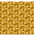 geometry gold seamless pattern vector image
