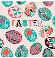 Doodle Easter Background Pattern vector image vector image