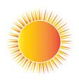 abstract sun shape vector image
