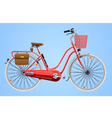 Ladies bicycle vector image