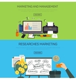 Marketing and management Research marketing vector image