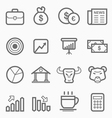 stock and market symbol line icon set vector image
