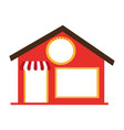 store front building icon vector image
