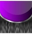 violet glass on stripes background vector image