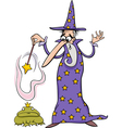 wizard fantasy cartoon vector image