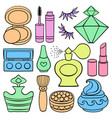 beauty and fashion supplies vector image vector image