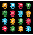 Set of educational icons on globe design vector image vector image