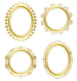 golden decorative frames - set vector image vector image
