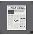 The newspaper with a headline Daily News vector image vector image