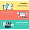 media objects World news vector image