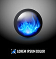 Sphere with fire flames vector image vector image