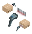 The manual scanner of bar codes Flat 3d vector image