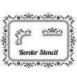border stencil vector image