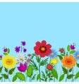 flowers and sky vector image