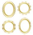 golden decorative frames - set vector image