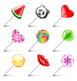 Lollipop icons set vector image