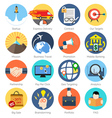 Set of colorful icons in modern flat design for vector image