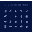 Set thin icon healthcare vector image