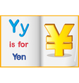 The currency Yen vector image vector image