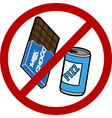 No food or drink sign vector